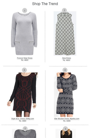 Preview shop the trend sweater dress nov 14