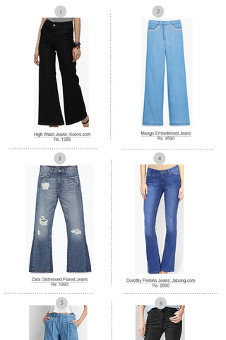Preview shop the trend flare jeans july 15