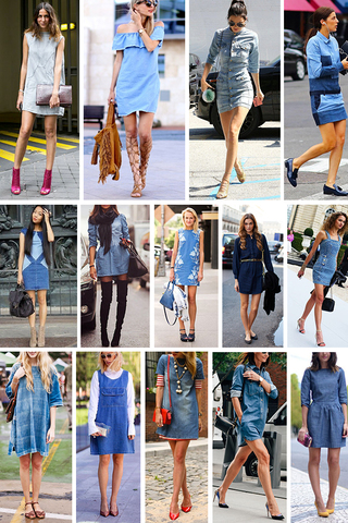 Preview trend alert denim dress sept 15