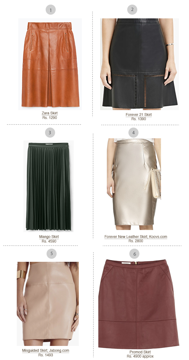 Shopping spree leather skirt feb 16