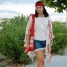 Fill 98 98 sugarlane red turban poncho blogger dog