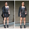 Fill 98 98 sequin dress   leather jacket