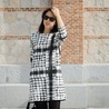 Fill 98 98 sugarlane houndstooth dress black white print