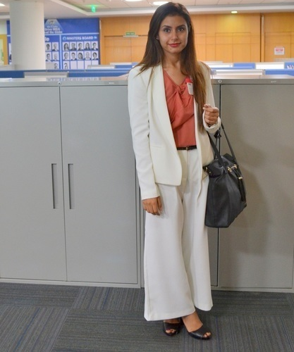Limit 550 500 kintyish.com indian fashion blog   procetr   gamble   mumbai office visit white cullotes and blazer business suit 1.6