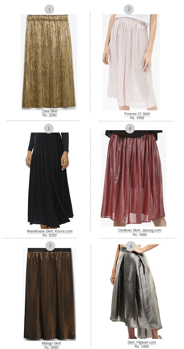 Trend alert metallic skirts feb 16