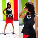 Fill 125 125 red skirt peplum top
