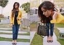 Fit 125 125 kintyish.com indian fashion blog himanshi mukhija mustard blazer col