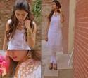 Fit 125 125 kintyish.com indianfashionblog himanshi mukhija white ethnic suit  lace embroidery sequin jhumki 2 stylepile