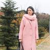 Fill 98 98 sugarlane diy chunky yarn cowl scarf pink coat